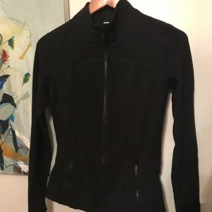 Lululemon Black Track Jacket with thumb holes